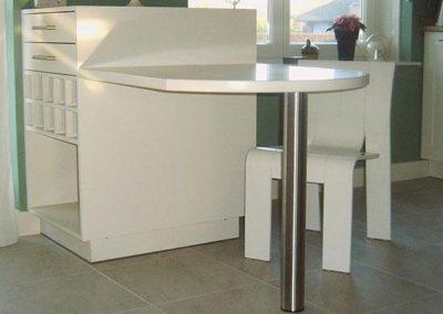 Wit tafeltje/keukenblokje